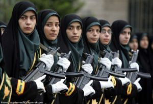 Figure 2A: Iranian women in the military...strapped.