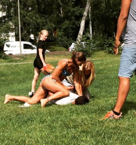 Figure 3A: Off duty Swedish police officer Mikaela Kellner who tackled a pickpocket in the park, IMAGE TAKEN FROM OPEN INSTAGRAM ACCOUNT: https://www.instagram.com/p/BIXjWmNglsZ/?taken-by=mikaelakellner